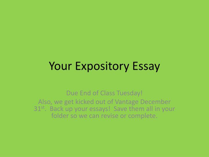 your expository essay n.