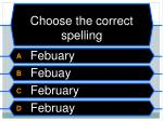 choose the correct spelling4