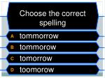 choose the correct spelling6