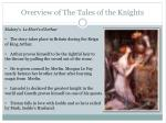overview of the tales of the knights