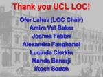 thank you ucl loc
