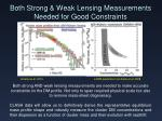 both strong weak lensing measurements needed for good constraints