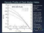 density profile of dark matter halos