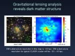 gravitational lensing analysis reveals dark matter structure