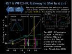 hst wfc3 ir gateway to sne ia at z 2