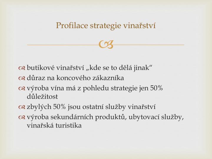 Profilace strategie