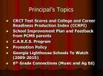 principal s topics