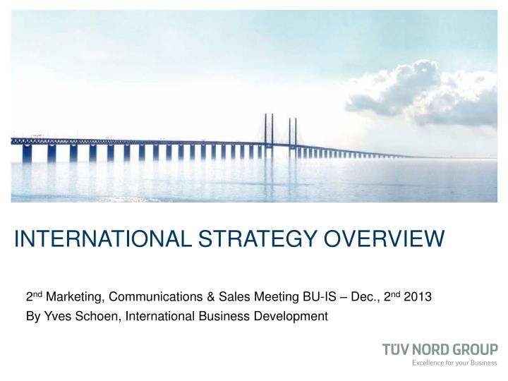 international strategy overview n.