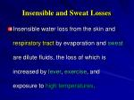 insensible and sweat losses