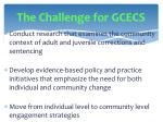 the challenge for gcecs