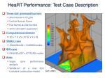 heart performance test case description