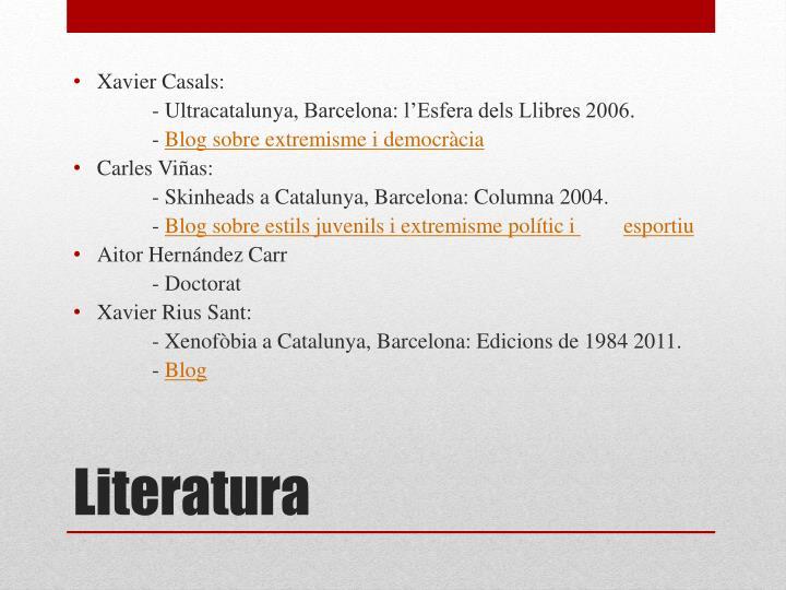 Xavier Casals:
