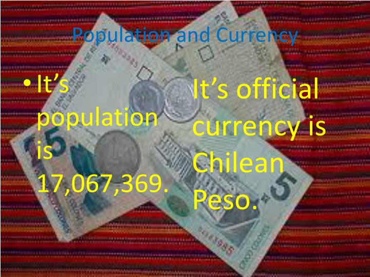 Population and Currency