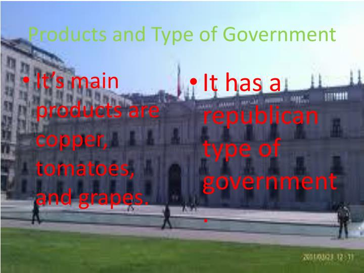 Products and Type of Government