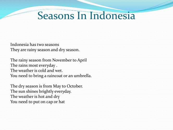 Seasons In Indonesia
