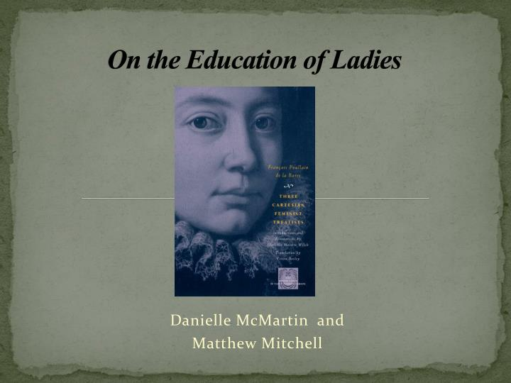 on the education of ladies n.