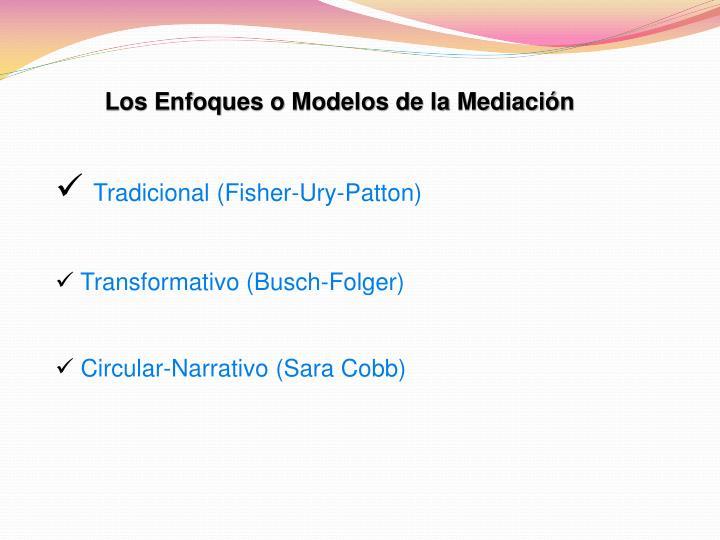 Los Enfoques o Modelos de la Mediación