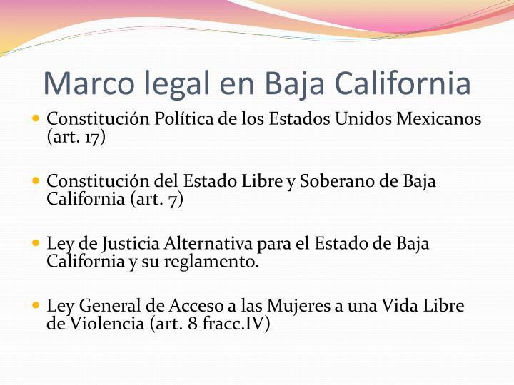 Marco legal en Baja California