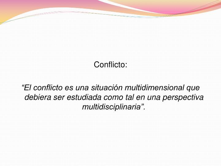 Conflicto: