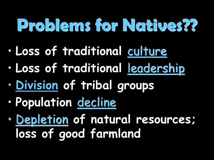Problems for Natives??