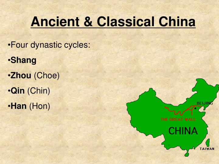 an analysis of the three dynasties in the ancient china