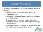 diversity emphasis