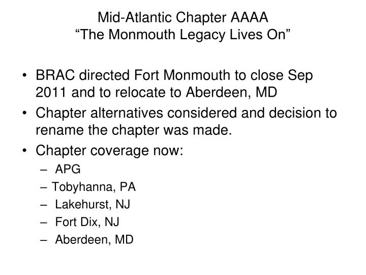 mid atlantic chapter aaaa the monmouth legacy lives on n.