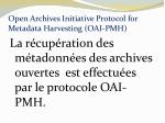 open archives initiative protocol for metadata harvesting oai pmh