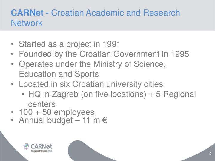 Carnet croatian academic and research network