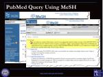 pubmed query using mesh1
