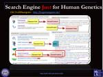 search engine just for human genetics