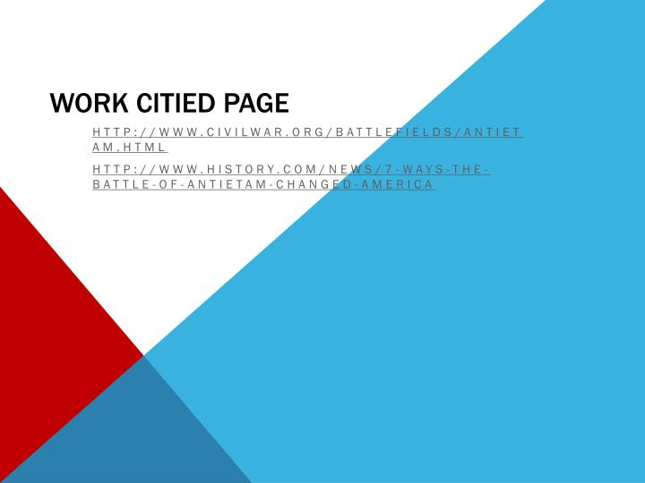 Work citied page