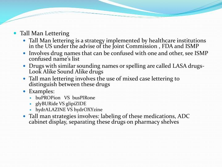 tall man lettering ppt medication safety powerpoint presentation id 2272705 25020