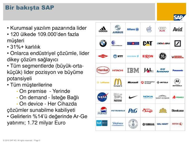 Bir bakışta SAP