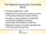 the national community committee ncc1