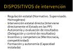 dispositivos de intervenci n
