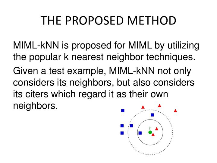 THE PROPOSED METHOD