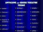 antigone and greek theatre terms