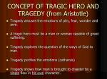 concept of tragic hero and tragedy from aristotle