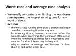 worst case and average case analysis