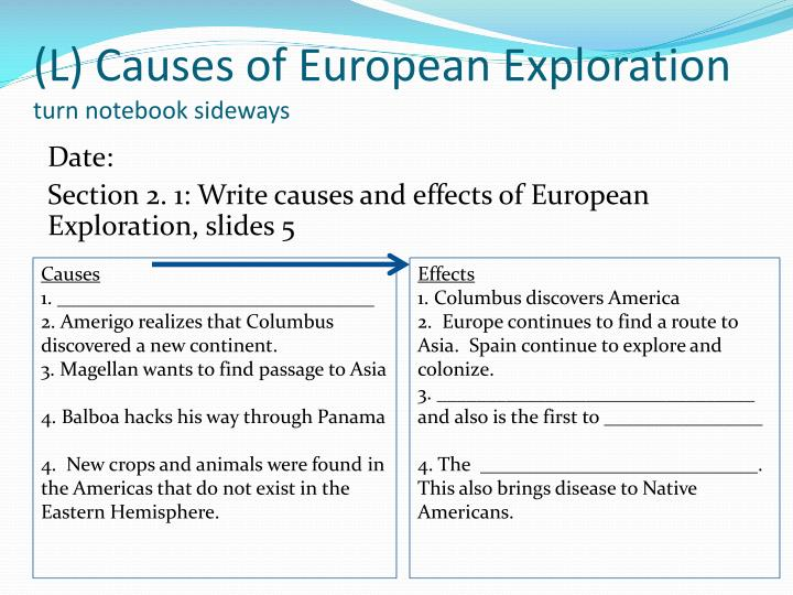 Ch 19 Age Of Exploration Slides: Chapter 2 Section 1: Age Of Exploration, Pgs. 36-41