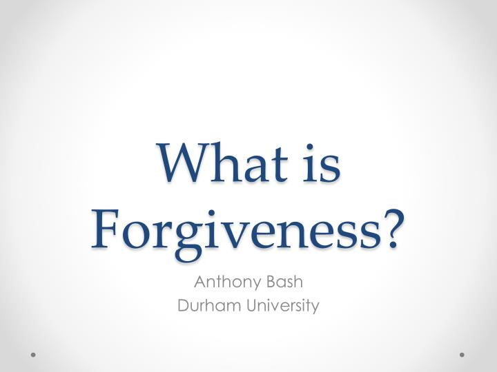 what is forgiveness n.
