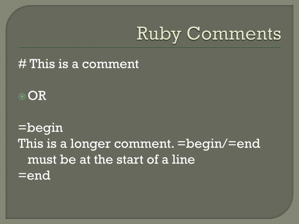 PPT - Ruby PowerPoint Presentation - ID:2273008