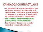 candados contractuales