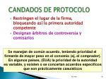 candados de protocolo