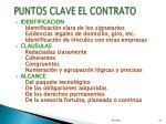 puntos clave el contrato