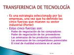 transferencia de tecnolog a1