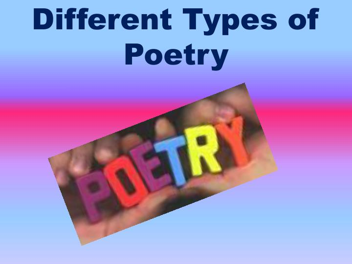 different types of poetry n.