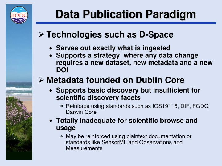 Data Publication Paradigm