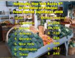 nationally new york ranks 5 th in the value of principal fresh market vegetables 2008